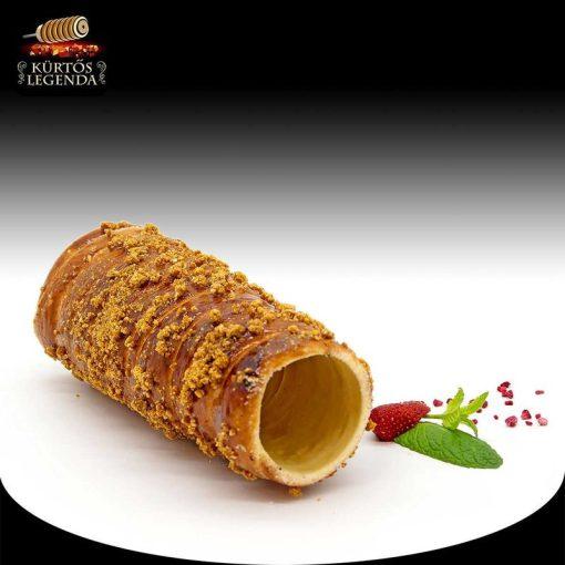 Karamellás magvas ízesítésű - eredeti méretű kürtőskalács desszert