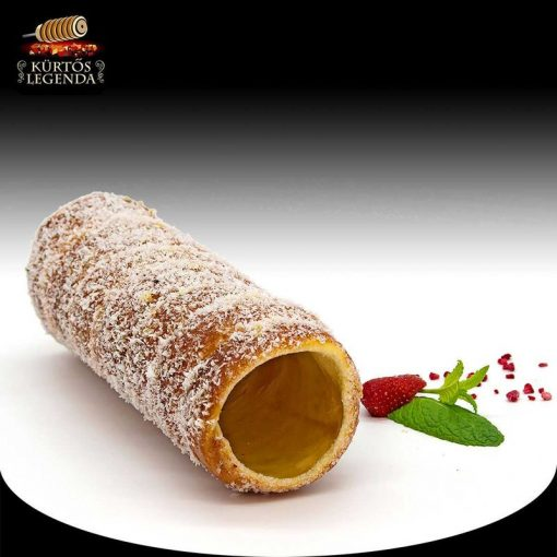 Kókuszos ízesítésű - eredeti méretű kürtőskalács desszert
