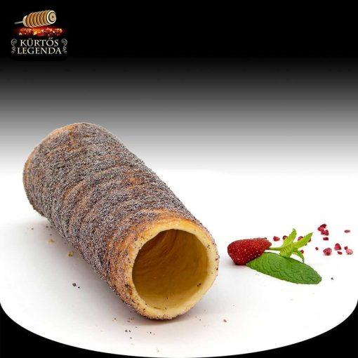 Mákos ízesítésű - eredeti méretű kürtőskalács desszert