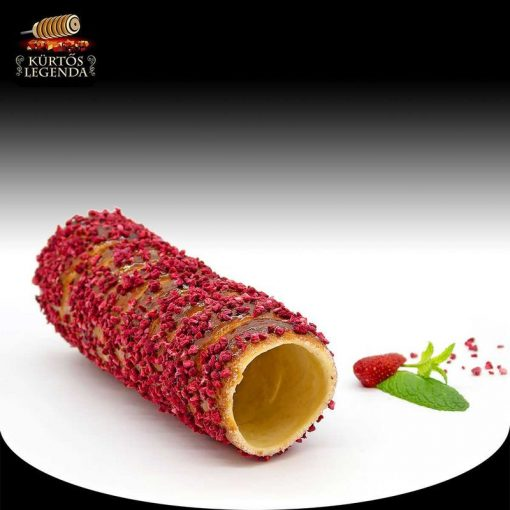 Málnás ízesítésű - eredeti méretű kürtőskalács desszert