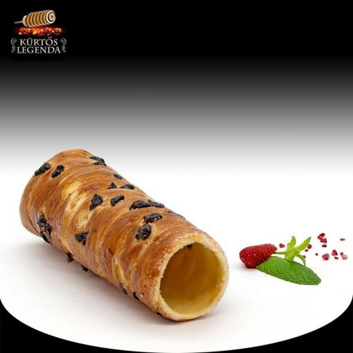 Möggyes ízesítésű - eredeti méretű kürtőskalács desszert