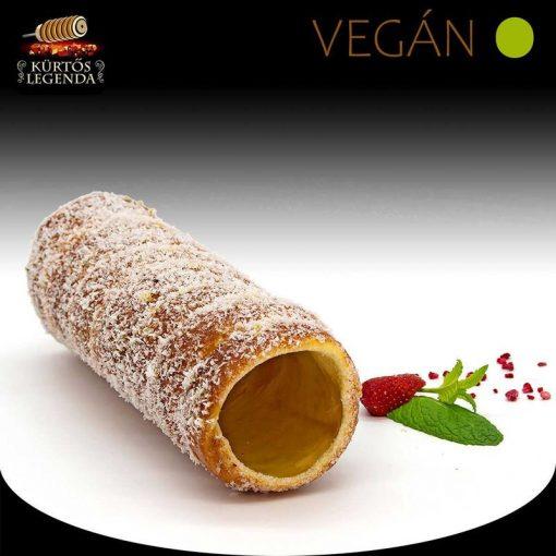 Kókuszos ízesítésű - eredeti méretű Vegán kürtőskalács desszert