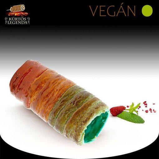 Unikornis ízesítésű - eredeti méretű Vegán kürtőskalács desszert
