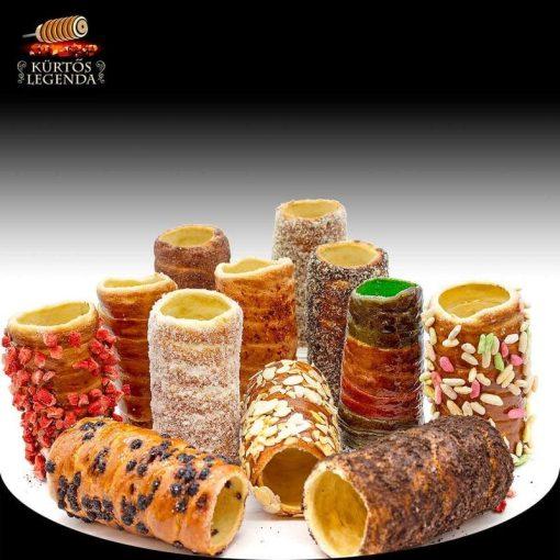 Szabadon választható ízek - 12 db snack méretű kürtőskalács desszertélmény