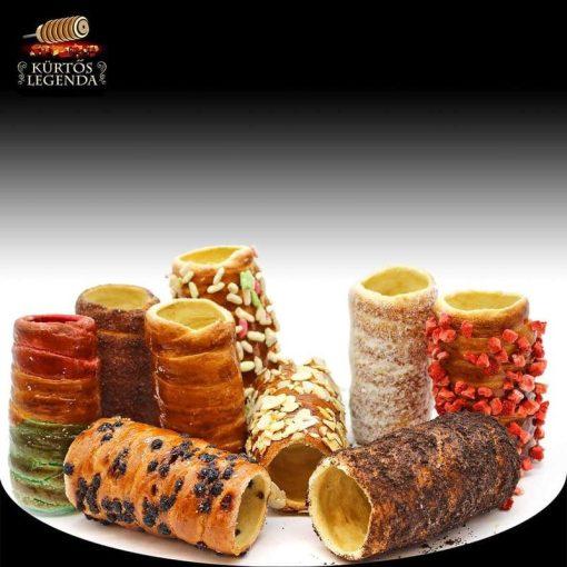 Szabadon választható ízek - 9 db snack méretű kürtőskalács desszertélmény