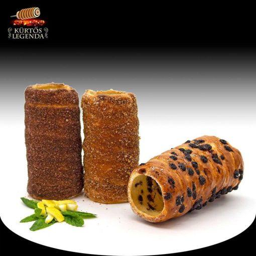 Afrika (Kakaós, Csokipettyes, Fahéjas) - 3 db különböző ízű kürtőskalács