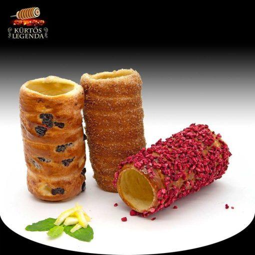 Citrus (Narancsos-fahéjas, Málnás, Möggyes) - 3 db különböző ízű kürtőskalács