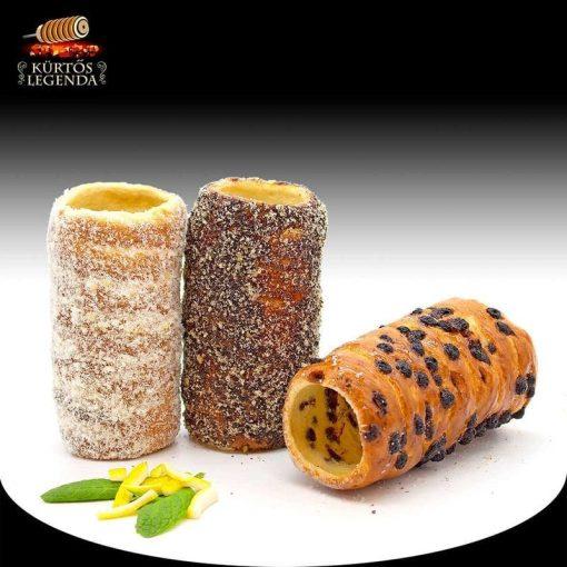 Édenkert (Flódnis, Raffaellós, Csokipettyes) - 3 db különböző ízű kürtőskalács