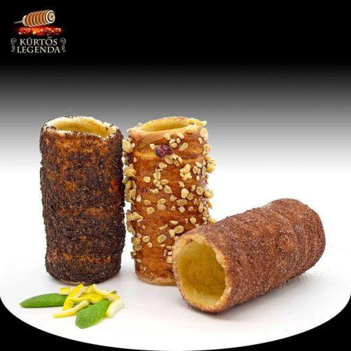 INSTA (Kakaós, Oreós, Karamellás magvas) - 3 db különböző ízű kürtőskalács