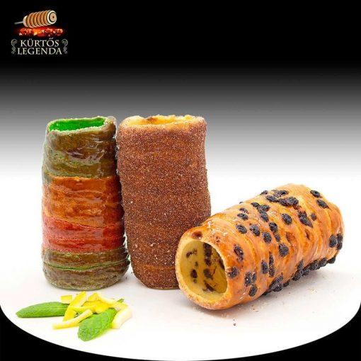 Kinder (Kakaós, Csokipettyes, Unikornis) - 3 db különböző ízű kürtőskalács