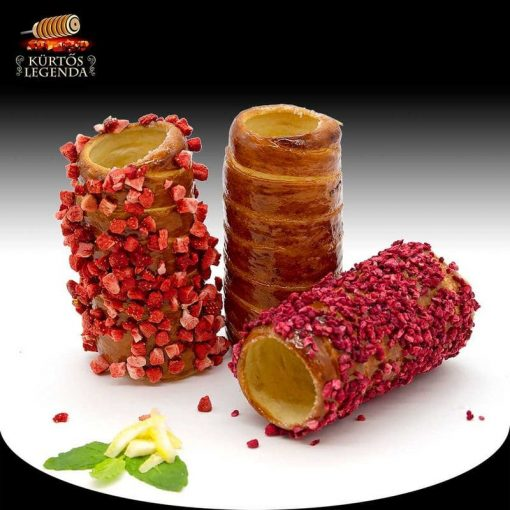 Nyári fesztivál (Málnás, Igazi epres, Vaníliás) - 3 db különböző ízű kürtőskalács