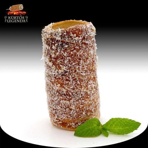 Kókuszos ízesítésű - snack méretű kürtőskalács desszertélmény