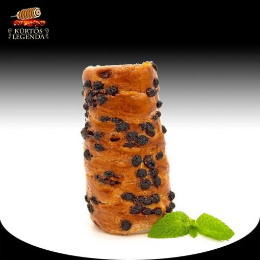 Csokipettyes ízesítésű - snack méretű kürtőskalács desszertélmény