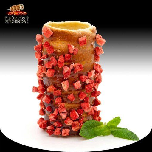 Igazi Epres ízesítésű - snack méretű kürtőskalács desszertélmény
