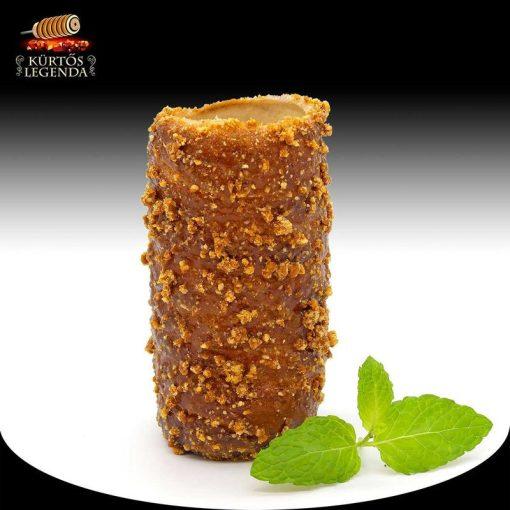 Karamellás magvas ízesítésű - snack méretű kürtőskalács desszertélmény