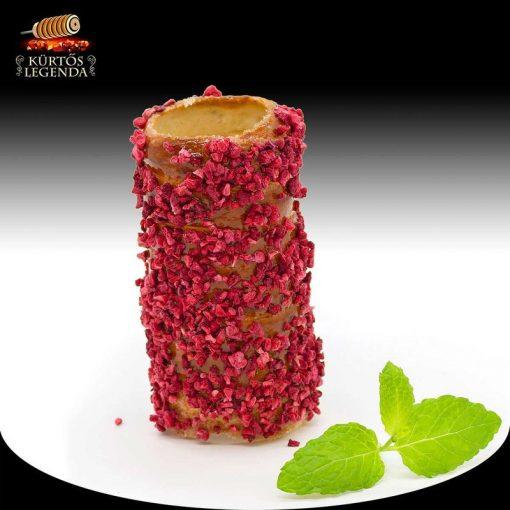 Málnás ízesítésű - snack méretű kürtőskalács desszertélmény
