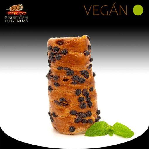 Csokipettyes ízesítésű - snack méretű Vegán kürtőskalács desszertélmény