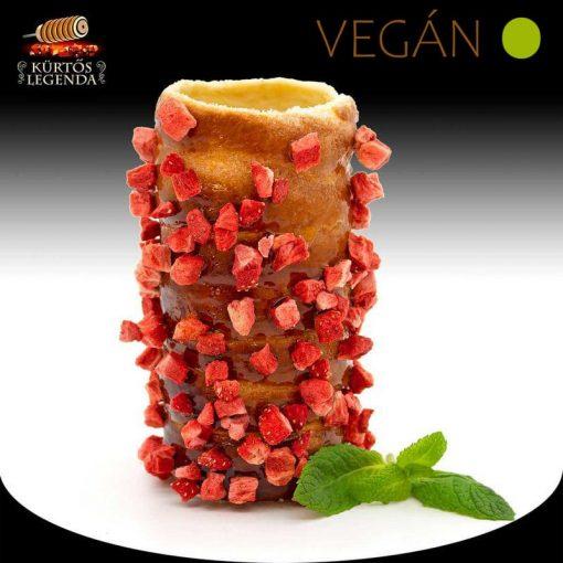 Igazi Epres ízesítésű - snack méretű Vegán kürtőskalács desszertélmény