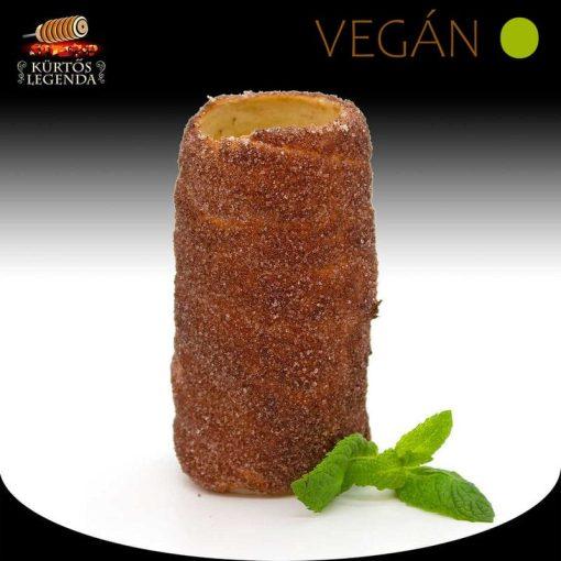Kakaós ízesítésű - snack méretű Vegán kürtőskalács desszertélmény