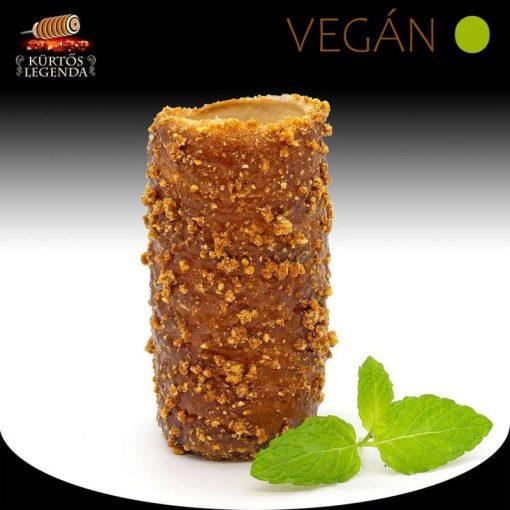 Karamellás magvas ízesítésű - snack méretű Vegán kürtőskalács desszertélmény