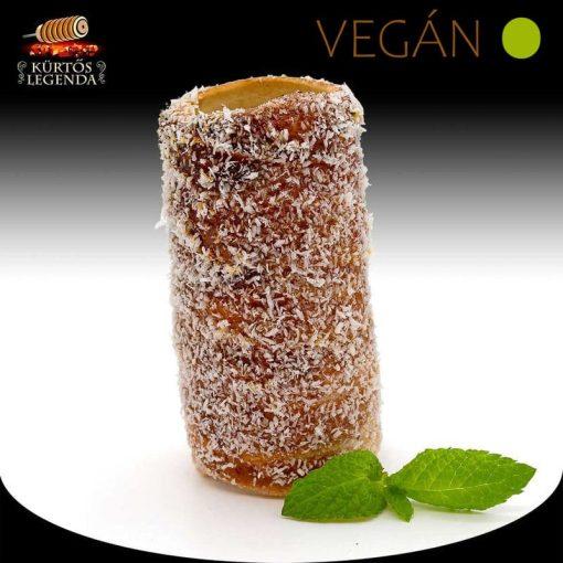 Kókuszos ízesítésű - snack méretű Vegán kürtőskalács desszertélmény