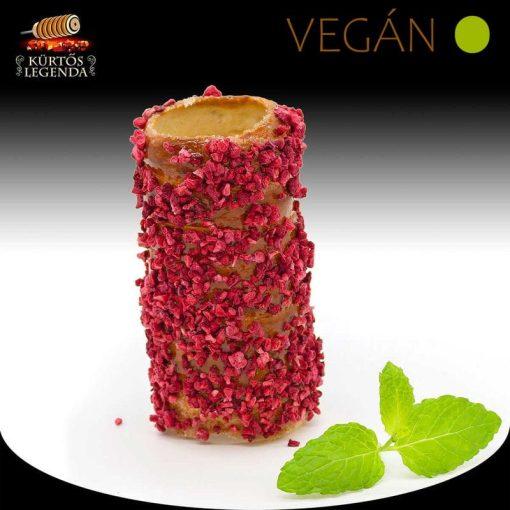 Málnás ízesítésű - snack méretű Vegán kürtőskalács desszertélmény