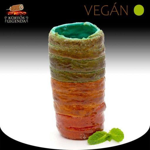 Unikornis ízesítésű - snack méretű Vegán kürtőskalács desszertélmény