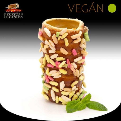Zizis ízesítésű - snack méretű Vegán kürtőskalács desszertélmény