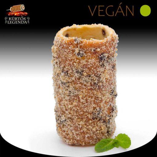 Zserbós ízesítésű - snack méretű Vegán kürtőskalács desszertélmény